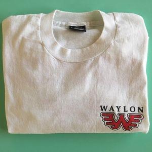Waylon Jennings Concert T Shirt L Double Sided
